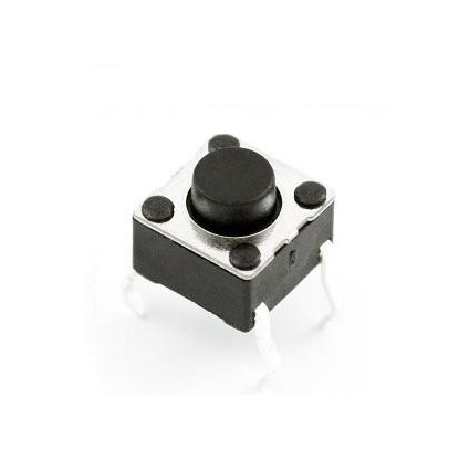CHAVE MINI PUSH BUTTON 4P (PRETO)