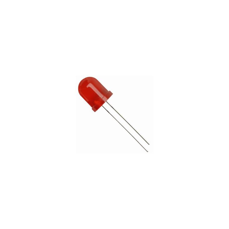 LED DIFUSO VERMELHO (10mm)