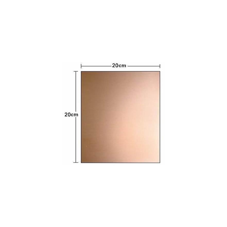 PLACA FENOLITE VIRGEM (FACE SIMPLES 20x20cm)