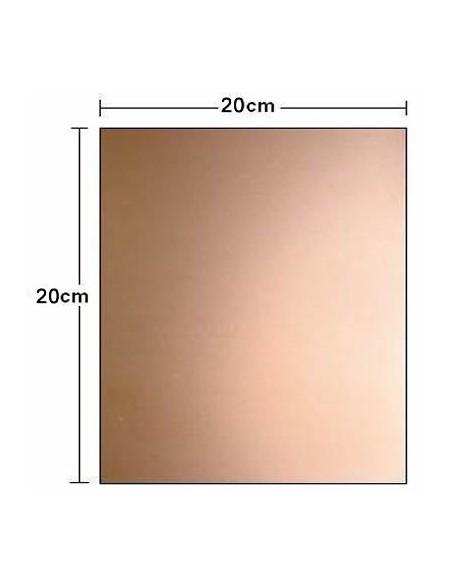 PLACA FIBRA DE VIDRO VIRGEM (FACE SIMPLES 20x20cm)