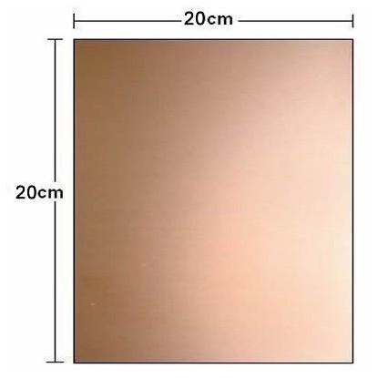 PLACA FIBRA DE VIDRO VIRGEM (DUPLA FACE 20x20cm)