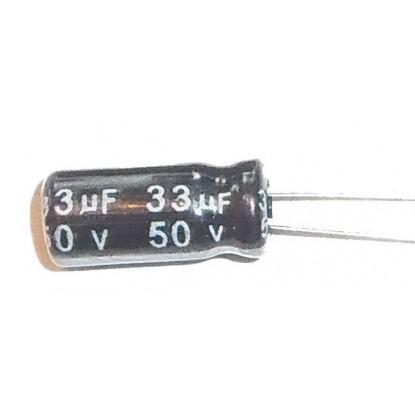 CAPACITOR ELETROLITICO 33uF/50V