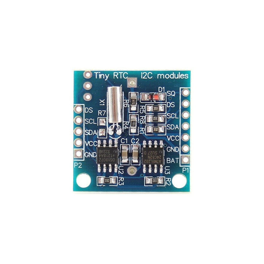 Módulo RTC com DS1307 e EEPROM 24C32 - frente