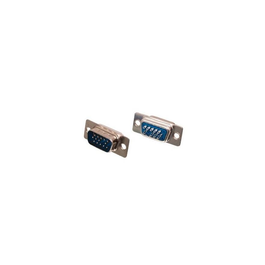 CONECTOR DB15 MACHO 3 LINHAS 180GRAUS (SOLDA FIO)