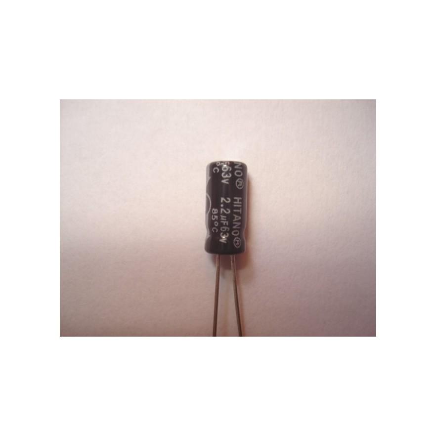 CAPACITOR ELETROLITICO 2,2uF/63V