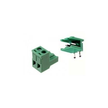 CONECTOR BORNE KRA/KRE 2E-DG MACHO-FEMEA - 2T - 90º (PASSO 5MM - PCI)