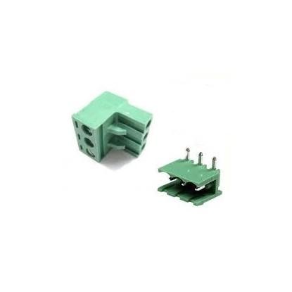 CONECTOR BORNE KRA/KRE 2E-DG MACHO-FEMEA - 3T-90º (PASSO 5MM - PCI)