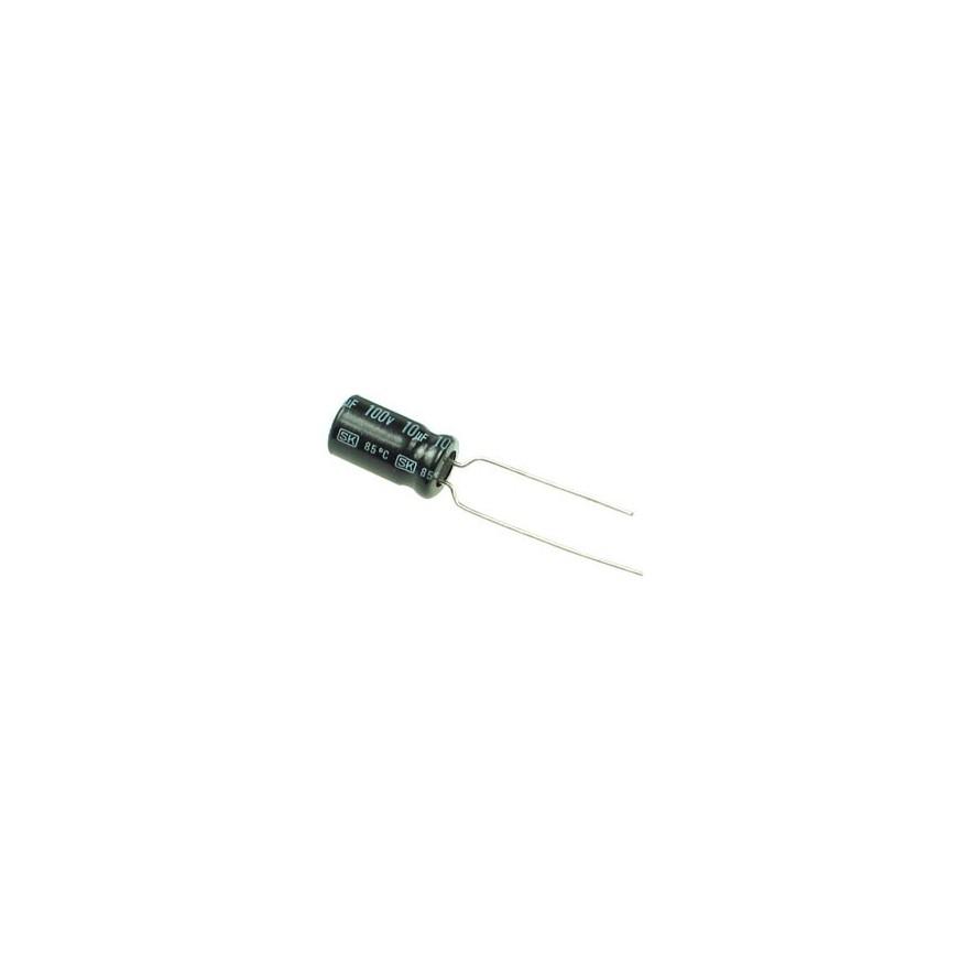 CAPACITOR ELETROLITICO 10uF/100V