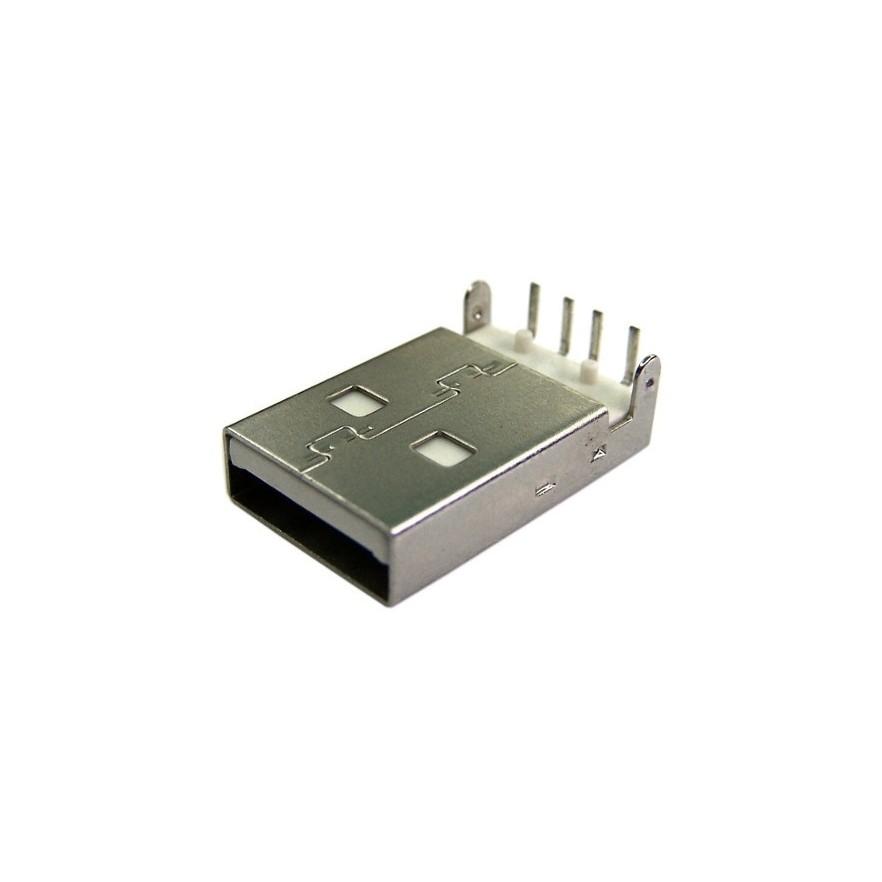 CONECTOR USB MACHO TIPO A (90º - PCB) - Verso