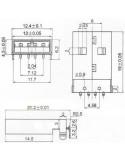 CONECTOR USB MACHO TIPO A (90º - PCB) - Dimensões
