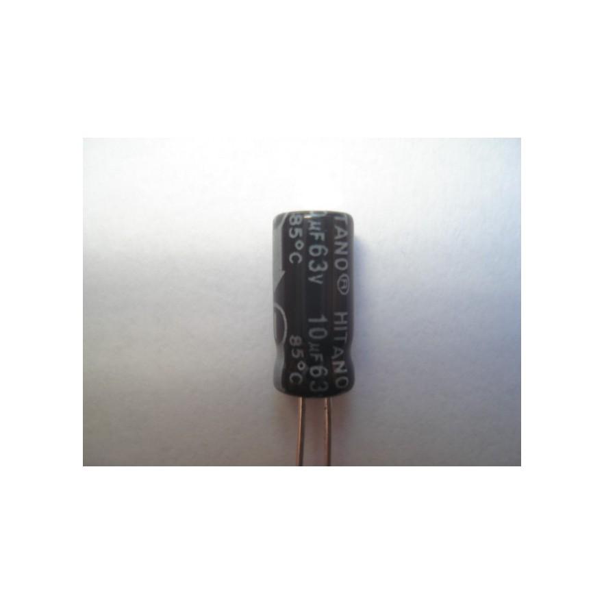 CAPACITOR ELETROLITICO 10uF/63V