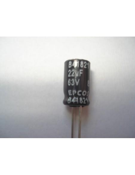 CAPACITOR ELETROLITICO 22uF/63V