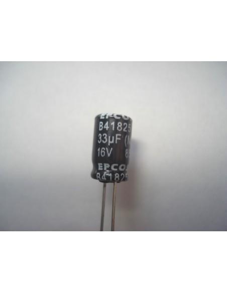 CAPACITOR ELETROLITICO 33uF/16V