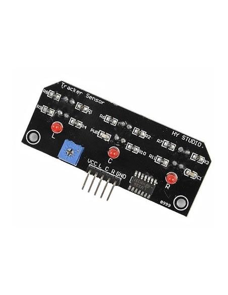 Módulo Sensor de Reflexão IR (Seguidor Linha 3 sensores)