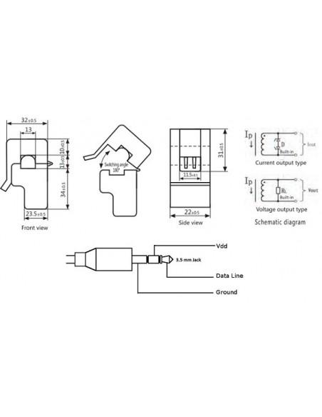 Sensor de Corrente Não Invasivo SCT013-100A