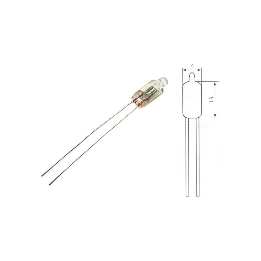 Lampada NEON 5x13 (80V a 220V)