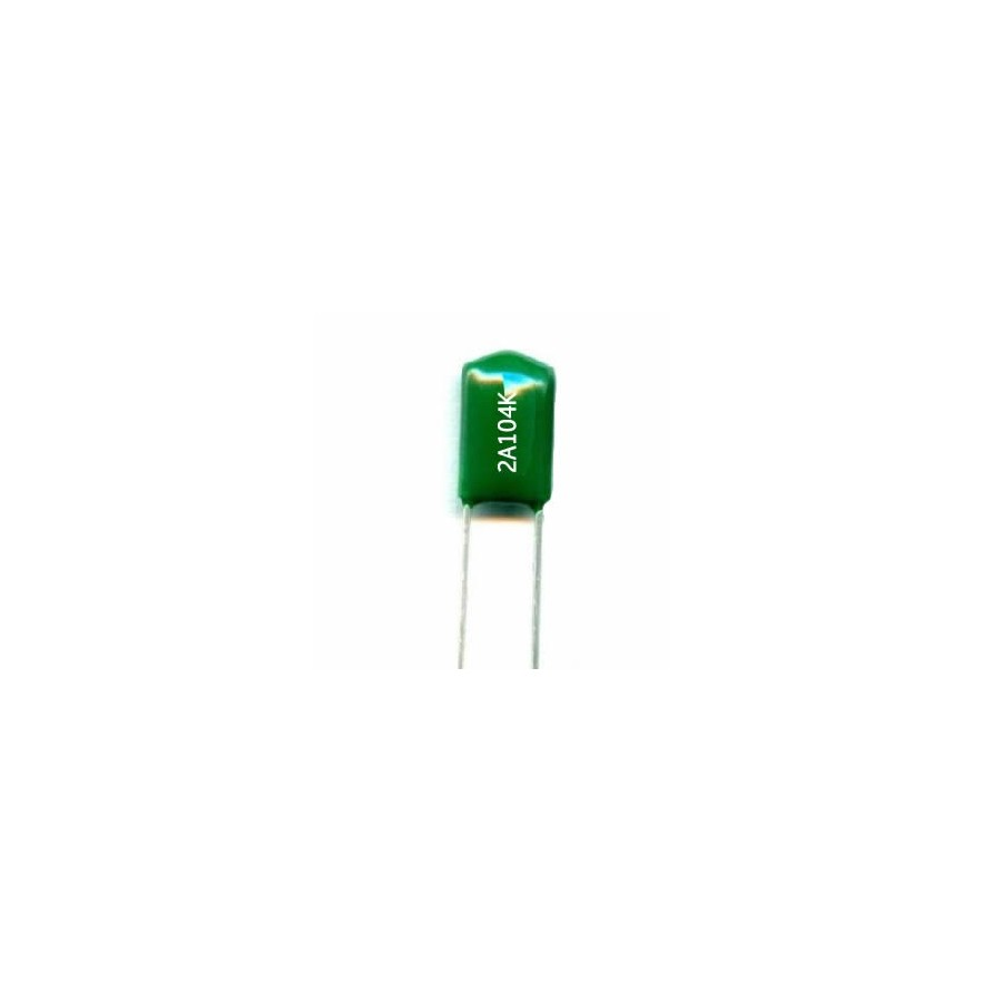 CAPACITOR POLIESTER 100nF/100V