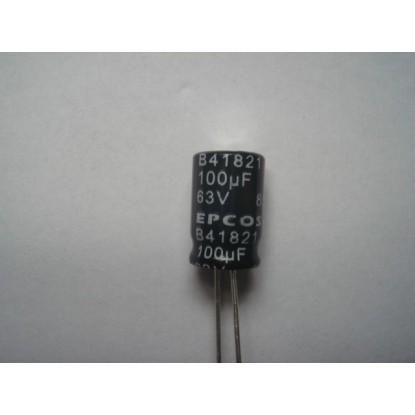 CAPACITOR ELETROLITICO 100uF/63V