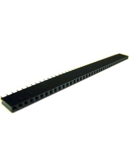 CONECTOR BARRA DE PINOS FEMEA (1X40X11,2 - 180 graus)