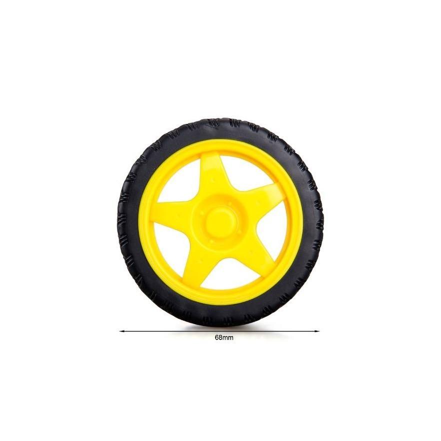 Roda Plástica 65x26mm
