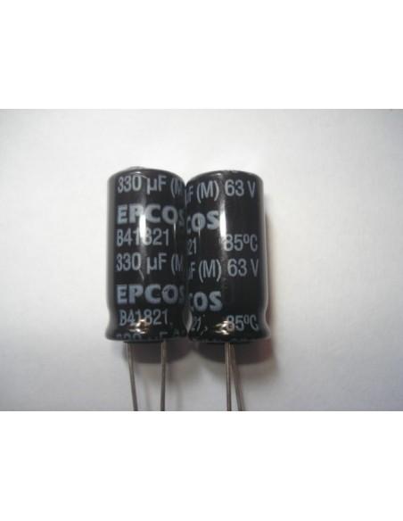 CAPACITOR ELETROLITICO 330uF/63V