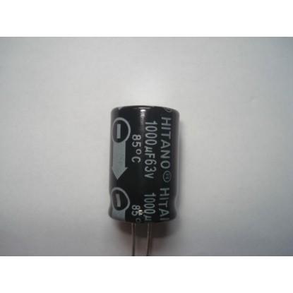 CAPACITOR ELETROLITICO 1000uF/63V