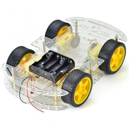 KIT CHASSI PARA ROBÔ 4WD + ENCODER