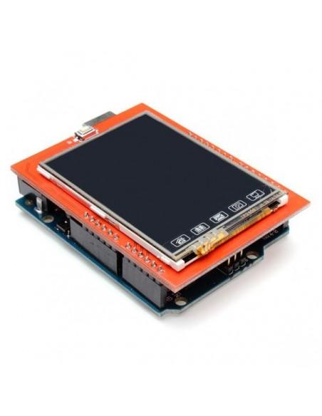 """Shield Tela de Toque LCD 2,4"""" TFT : DP74HC245"""