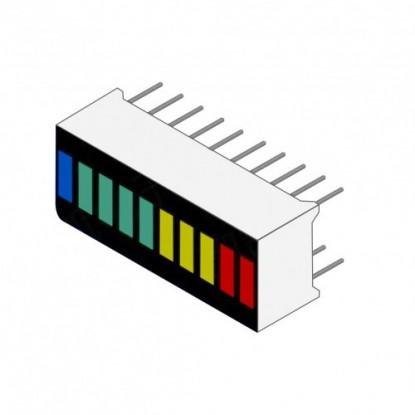 Barra Gráfica de LEDs - 10 Segmentos e 4 cores