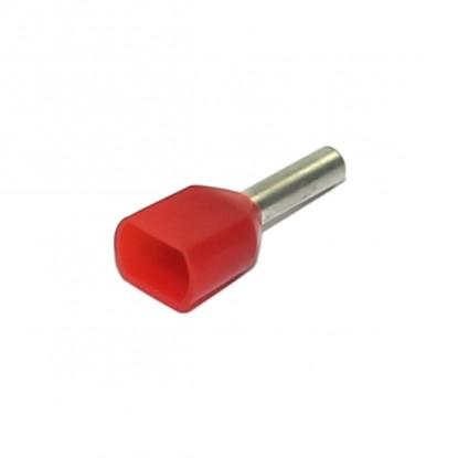 TERMINAL PINO TUBULAR DUPLO 1,0mm² (CT3706)
