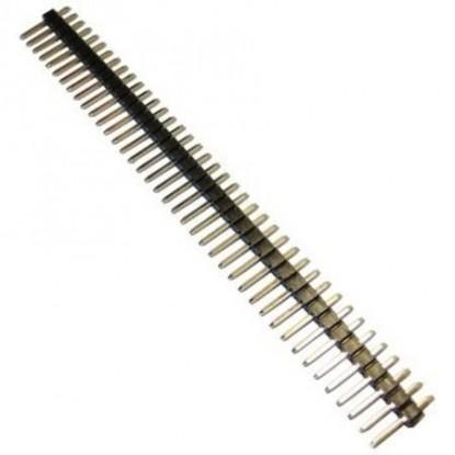 CONECTOR BARRA DE PINOS MACHO (1X40X15 - 180 graus)