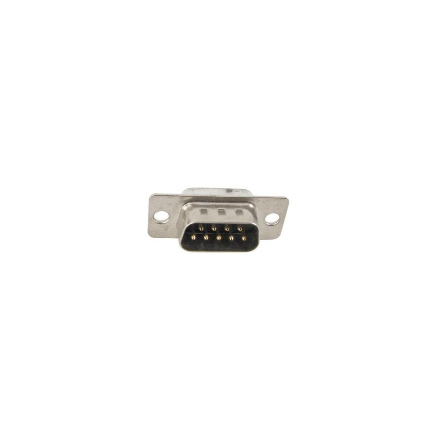 CONECTOR DB9 MACHO 180GRAUS (SOLDA FIO)