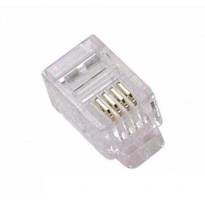 CONECTOR PLUG PARA RJ11 4P4C - (CRISTAL - YH003)
