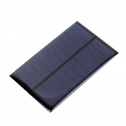 Mini Painel Solar Fotovoltaico 5,5V 1W (110x80mm) - frente