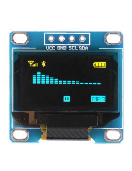 "Módulo Display OLED 128x64 0.96"" (Azul e Amarelo)"