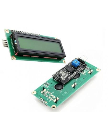 DISPLAY CRISTAL LÍQUIDO (LCD 16X02 - VD/PT) com MÓDULO I2C