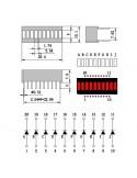 Barra Gráfica de LEDs - 10 Segmentos Vermelho