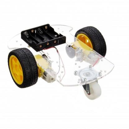 KIT CHASSI PARA ROBÔ 2WD + ENCODER