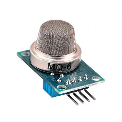 Módulo Sensor de Gás GLP, Propano, Isobutano e Gás Natural Liquefeito MQ-6