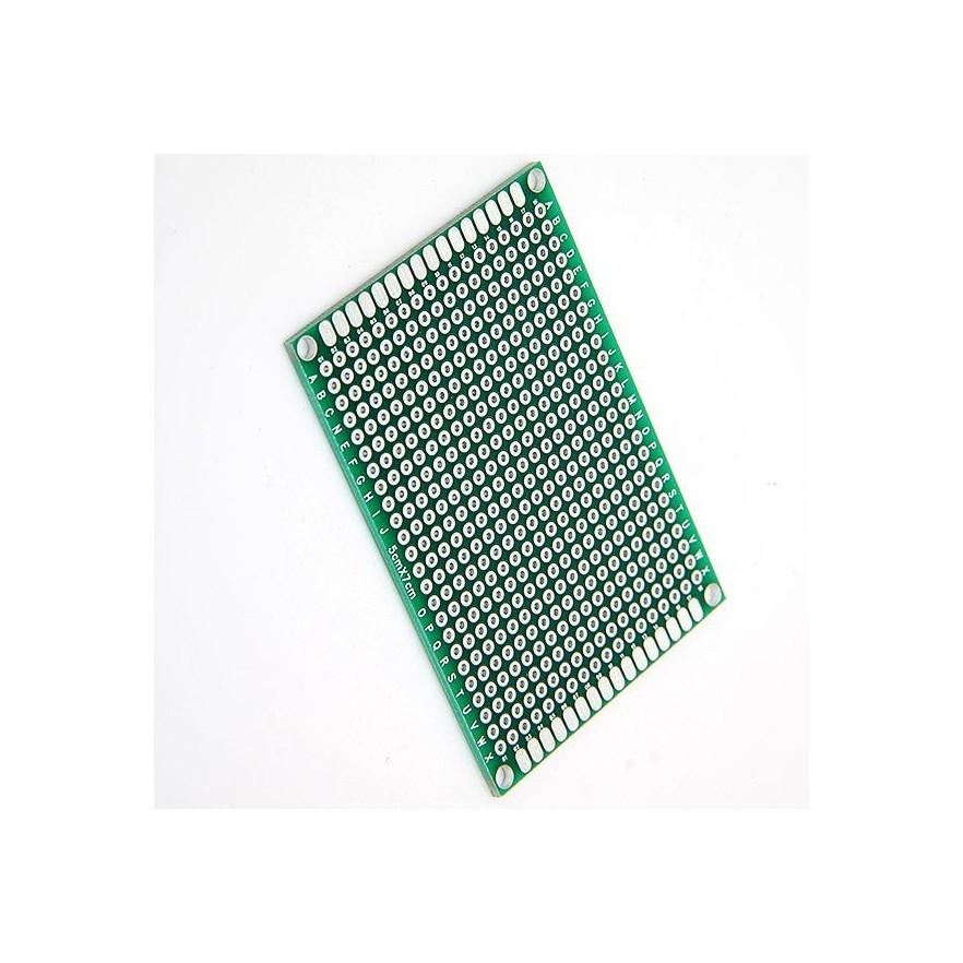 PLACA UNIVERSAL PERFURADA FACE SIMPLES (05x07cm)