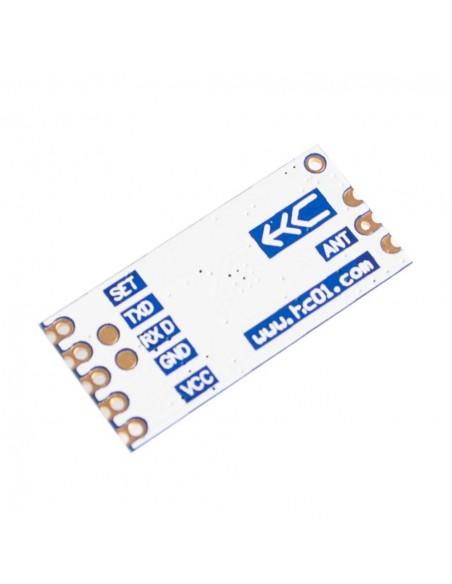 Módulo RF 433Mhz transceptor SI4463 - HC12 - verso