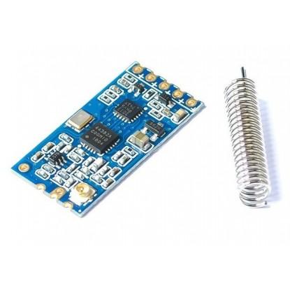 Módulo RF 433Mhz transceptor SI4463 - HC12 - frente