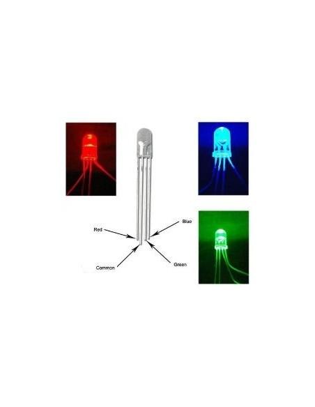 LED RGB 4T (CATODO COMUM - 5mm)