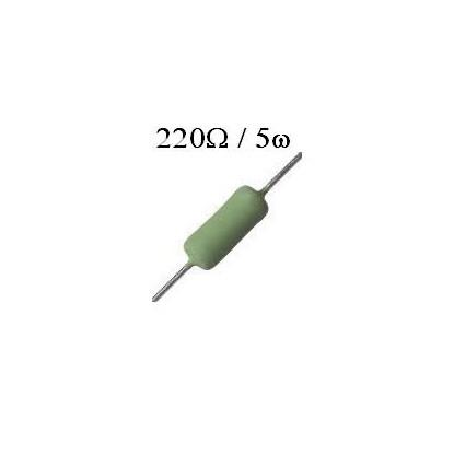 RESISTOR DE FIO 220R /  5W