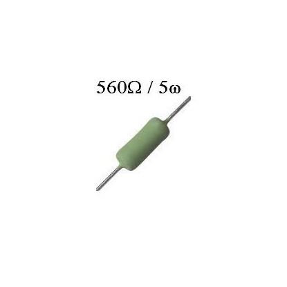 RESISTOR DE FIO 560R /  5W