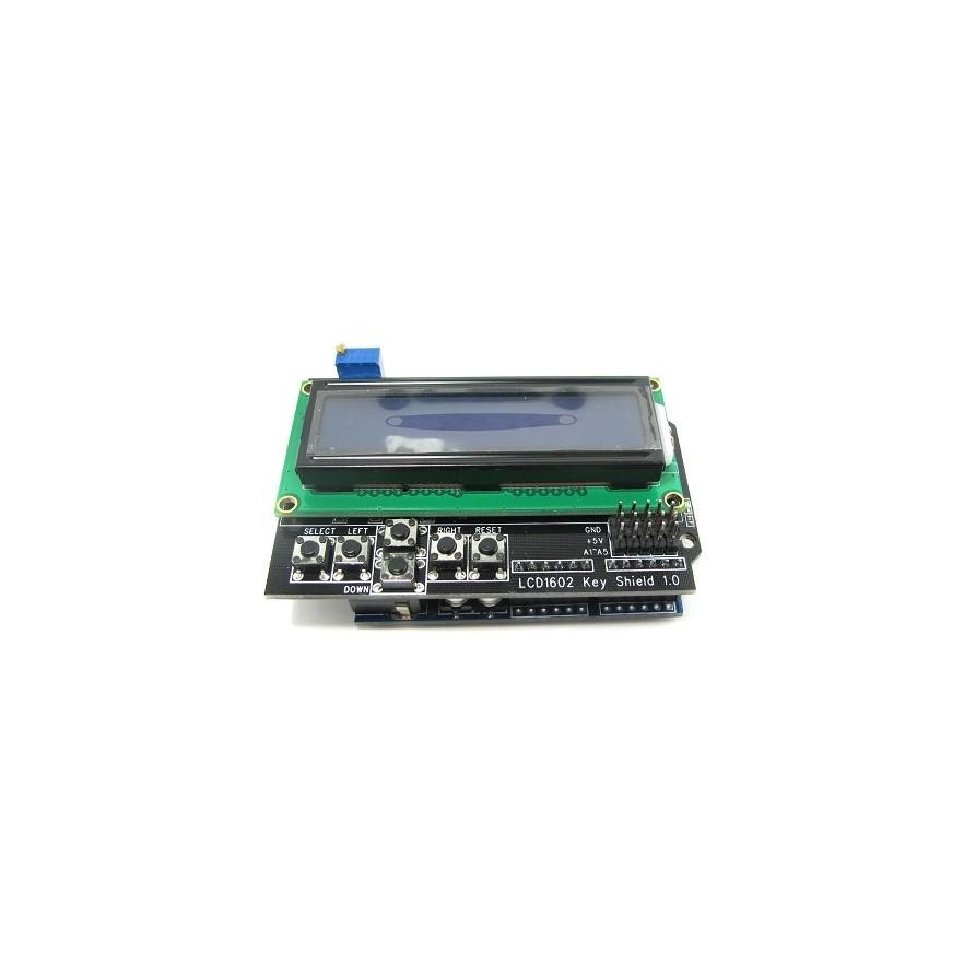 Shield Teclado com LCD 16x02 (AZ/BR) - Frente