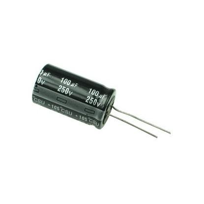 CAPACITOR ELETROLITICO 100uF/250V