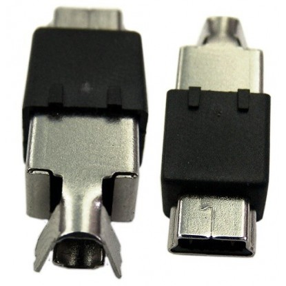 CONECTOR MINI USB MACHO TIPO V3-AISIM-OB5N (Para Cabo)