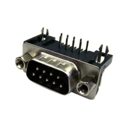 CONECTOR DB9 MACHO 90GRAUS (PCB)