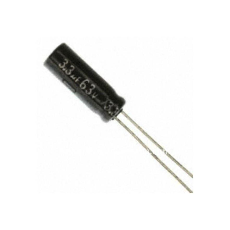 CAPACITOR ELETROLITICO 3,3uF/63V